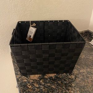 Simplify Small Black Woven Tote